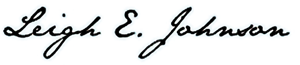 Leigh E Johnson Trial Consultant signature